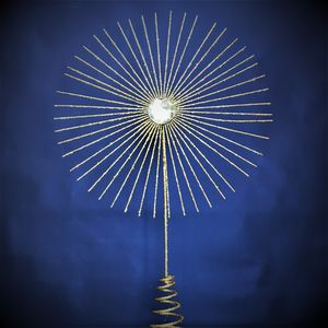 Contemporary Gold Star Christmas Tree Topper