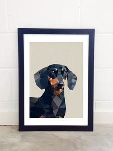 Daschund By Studio Cockatoo - posters & prints