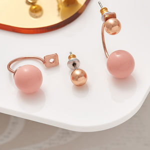Bianca Enamel Multiway Earrings - earrings