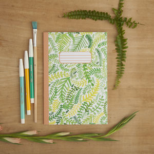 Ferns Pattern Illustrated A5 Notebook