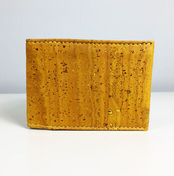 Sustainable Cork Card Holder Mustard