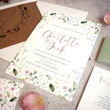 'Confetti' Wedding Invitation