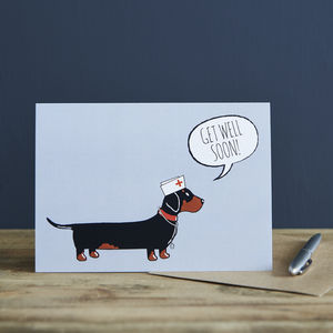Dachshund Get Well Card