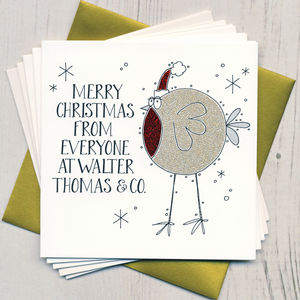 Ten Personalised Glittery Christmas Cards - cards & wrap