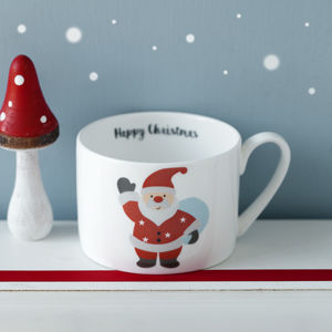 Personalised Christmas Santa Bone China Cup Or Mug - kitchen