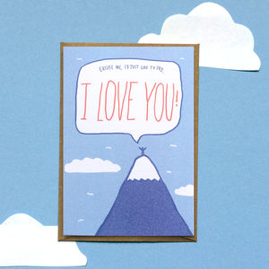 'I Love You Mountain Top' Valentines Card