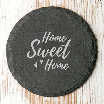 Home Sweet Home Slate Coaster