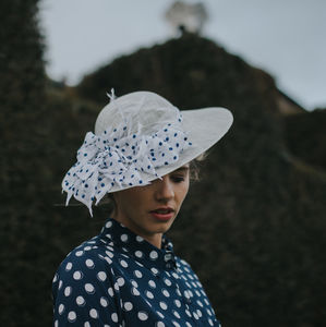 Blue Spotty Vintage Brim Hat 'Lady'