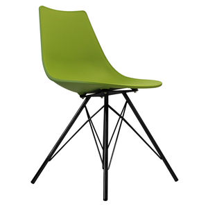 Oslo Chair Green With Black Metal Legs - dining chairs