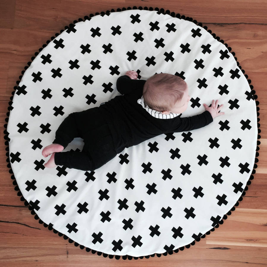 Monochrome Doublesided Kids Play Mat By Grattify
