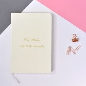 Personalised Notes To The Bride Bridezilla Notebook - planners & records