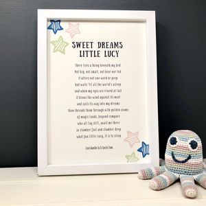 Personalised Baby Nursery Print