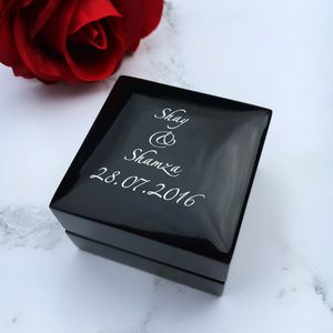 Personalised Ring Box - wedding ring pillows