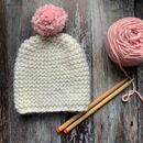 Ripple Merino Wool Beanie Hat Diy Knitting Kit