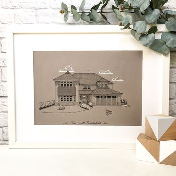 Personalised Line Drawing Of Your Home