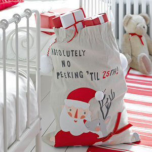 Christmas Santa And Rudolph Present Sack - christmas sale