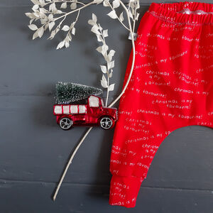'Christmas Is My Favourite' Baby And Toddler Leggings