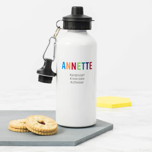 Personalised '#Hashtag' Water Bottle