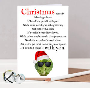 Funny Christmas Poem Card