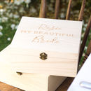 Personalised 'My Beautiful Bride' Keepsake Box