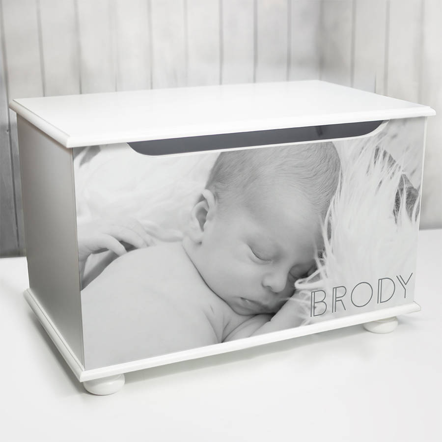Toy box with personalised photo design by keepsake gifts by toy box with personalised photo design negle