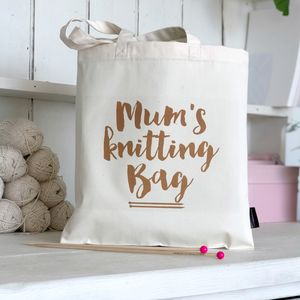 'Mum's Knitting Bag' Knitting Gift - shoulder bags