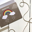 Rainbow Missing You Card
