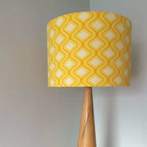 Bright Retro Print Handmade Lampshade - bedroom