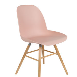 Scandinavian Blush Pink Chair - kitchen