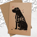 Border Terrier 'Love' Card