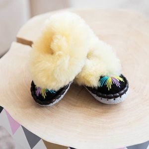 Childrens Cream Sheepers Slippers - clothing