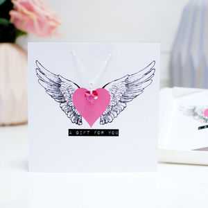 Swarovski Crystal Necklace Mother's Day Gift + Card