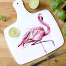 Inky Flamingo Chopping Board