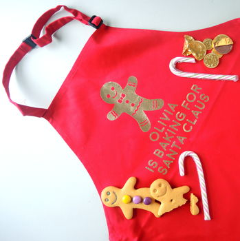 Personalised Kids Gingerbread Christmas Apron