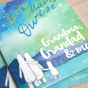 Personalised Grandparent And Me Book - new baby gifts