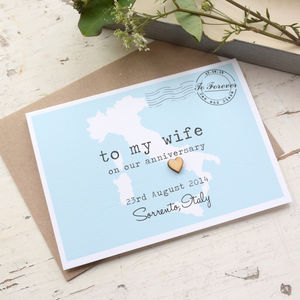 Personalise Anniversary 'To My Wife 'Wedding Day Card - anniversary cards