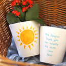 Sunshine Personalised Teacher Plant Pot With Seeds