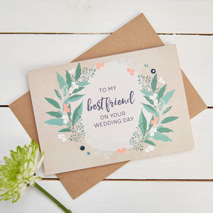 Best Friend Wedding Day Card