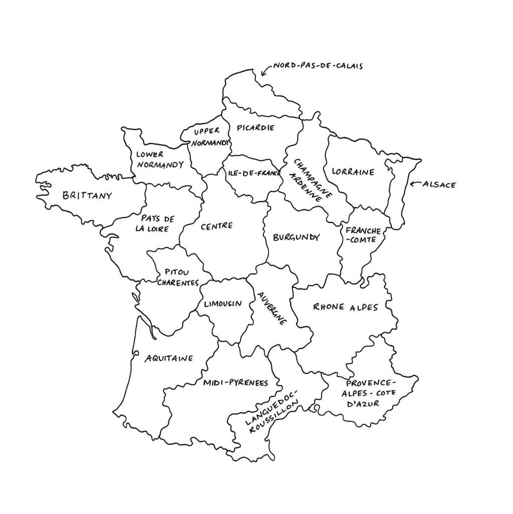 Map Of France To Print.Personalised Map Of France Print
