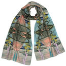Silk Scarf In Thai Flag Print