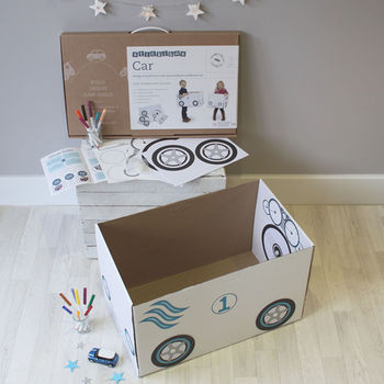 Personalised Cardboard Box Car Kit With Box