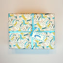Gift Wrapping Paper Merry Christmas Leaping Animals