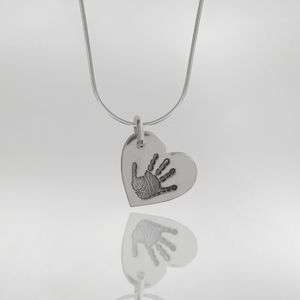 Personalised Hand Or Foot Print Snake Chain - necklaces & pendants