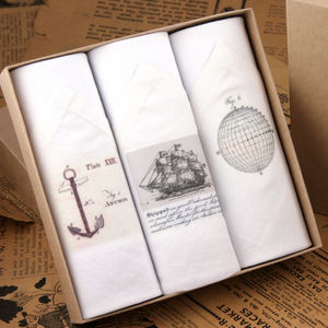 Box Of Men's Hankies: Sailing