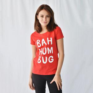 'Bah Humbug' Women's Christmas T Shirt - christmas jumpers & t shirts