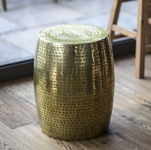 Gold Etched Side Table - furniture