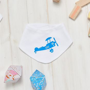 Personalised Airplane Baby Bib