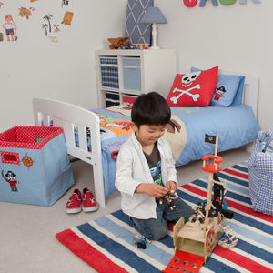 Boys Stripe Rug - baby's room