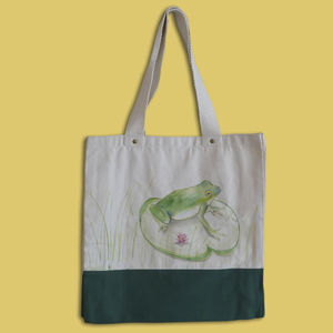 Handpainted Frog In The Bag