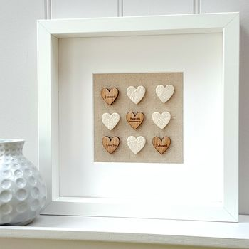 Pottery Anniversary Ceramic Love Hearts Artwork